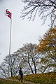 Akershus Fortress (Akershus Festning) and the flag of Norway (29585739530).jpg