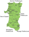 Akita Prefecture cities and towns.png