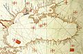 Albino de Canepa. The east of 1489 Portolan Chart. From the Black Sea at the top to the Red Sea at the bottom.A.jpg