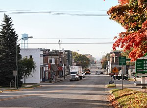 Albion, Indiana - Downtown Albion