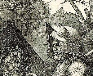 Albrecht Dürer detail 1513 - Knight, Death and Devil.jpg