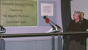 Imperial College London - Queen Elizabeth II opening the Alexander Fleming Building