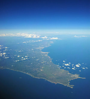 Cape St. Vincent - An aerial view of the southwestern edge of the St. Vincent coast