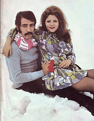 Ali Hatami - Hatami with his wife, Zari Khoshkam, in 1972