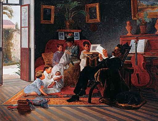 Almeida Júnior - Scene of Adolfo Pinto's Family - Google Art Project