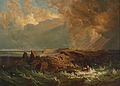 Alois Kirnig - Meeresbrandung an einer felsigen Küstenlandschaft.jpg