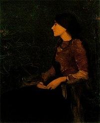 Edmond Aman-Jean: Portrait of Thadée-Caroline Jacquet