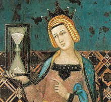 A detail from the 14th century painting Temperance by Ambrogio Lorenzetti