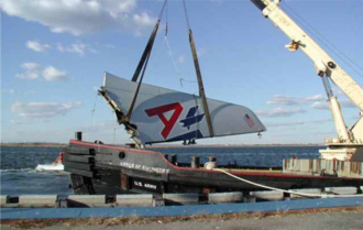 Fracture mechanics - Vertical stabilizer, which separated from American Airlines Flight 587, leading to a fatal crash