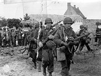 American Soldiers Landing at Utah Beach