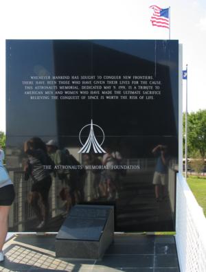 Space Mirror Memorial - Image: Amf space mirror dedication