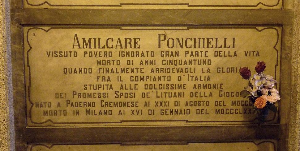Amilcare Ponchielli grave Milan 2015