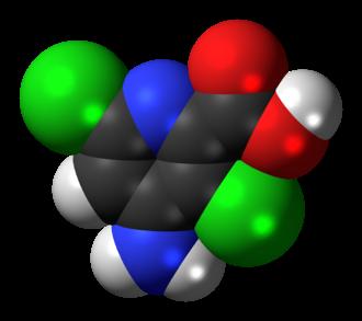 Aminopyralid - Image: Aminopyralid 3D spacefill