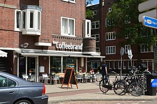 Hoofddorppleinbuurt Neighbourhood of Amsterdam in North Holland, Netherlands