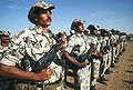 An Egyptian ranger battalion stands in formation during Operation Desert Shield 2.JPEG