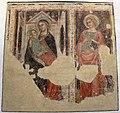 Andrea de' bruni (attr., ambito di Vitale), madonna in trono col bambino e s.g. evangelista, 1360-65 ca., da s. m. maddalena.jpg