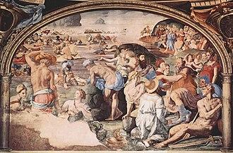 Crossing of the Red Sea (Bronzino) - Image: Angelo Bronzino 022