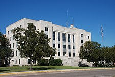 The Brazoria County Courthouse in Angleton