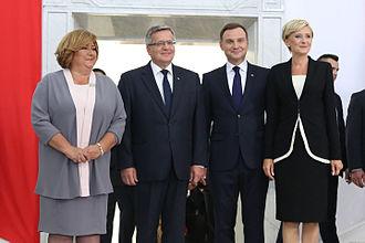 Bronisław Komorowski - With his successor Andrzej Duda in the Sejm, 6 August 2015.