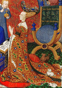 Anne, Duchess of Bedford (detail) - British Library Add MS 18850 f257v cropped.jpg