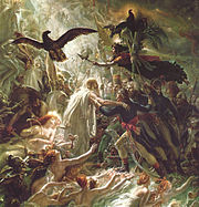 Apotheosis of French soldiers fallen in the liberation war, Anne-Louis Girodet de Roussy-Trioson, beginning of 19th century.