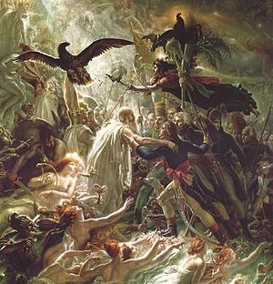 Apotheosis - Apotheosis of French soldiers fallen in the Napoleonic Wars, Anne-Louis Girodet de Roussy-Trioson, beginning of 19th century.