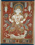 Anonymous - Double-Sided Painted Banner (Paubha) with God Shiva and Goddess Durga - 1995.268a-b - Art Institute of Chicago.jpg