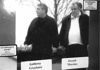 Joseph Massino - FBI surveillance photograph of Massino and Anthony Graziano