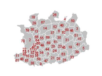 Antwerp (province) - Image: Antwerpen Gemeenten