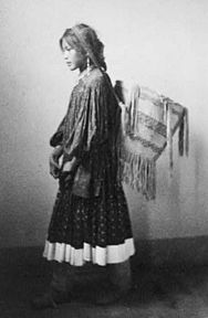 Apache girl with basket, 1902