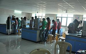 A. P. Shah Institute of Technology - Students at the applied chemistry laboratory of the college.