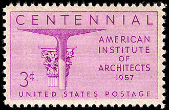 American Institute of Architects - 1957 stamp commemorating the AIA's centennial