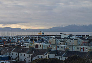 Ardrossan town in Scotland