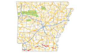 Arkansas Highway 160 - Image: Arkansas 160