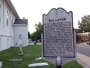 Ballston, Arlington, Virginia - Ballston Historical Marker