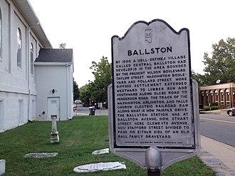 Ballston, Arlington, Virginia - Ballston Historical Marker