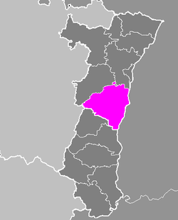 Location of Sélestat-Erstein in Alsace