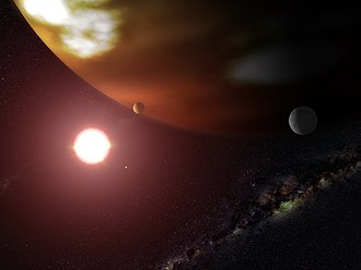 Gliese 876 - Image: Artist's concept of Gliese 876 b