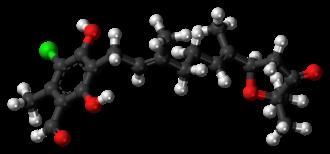 Ascofuranone - Image: Ascofuranone 3D ball