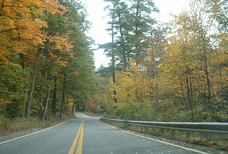 Massachusetts Route 119 - Route 119 in Willard Brook State Forest, Ashby