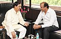 Ashok Chandra Panda meeting the Minister of State for Culture (Independent Charge), Tourism (Independent Charge) and Civil Aviation, Dr. Mahesh Sharma, in New Delhi on June 12, 2015.jpg