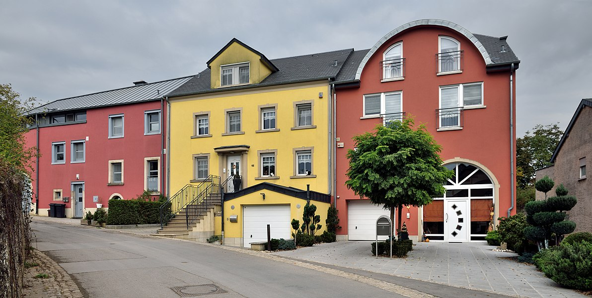 Aspelt, Luxembourg: houses in rue Pierre d'Aspelt, 46 and 48.