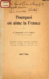Asselin - Pourquoi on aime la France, c1917.djvu
