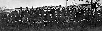 Assembly of Vlorë - Members of the Assembly of Vlorë photographed in November 1912 or at 1st anniversary in November 1913