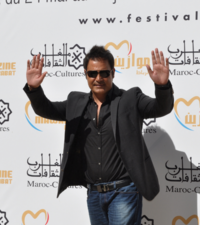 Lebanese singer Assi El Helani attending the 12th edition of the Mawazine music festival in Rabat.
