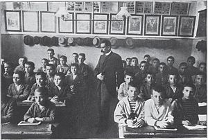 Parnassos Literary Society - The society's school for the poor in 1896
