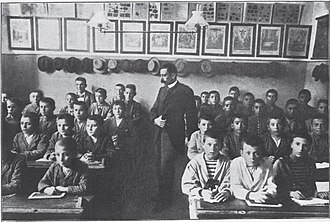 Parnassos Literary Society - The society's school for the poor in 1896