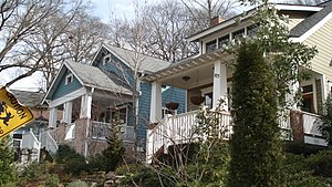 Gentrification of Atlanta - Bungalows in Atlanta's Inman Park neighborhood