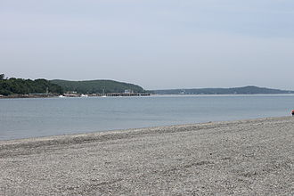 Tide - Low tide at Bar Harbor, Maine, U.S. (2014)