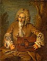 Attributed to Nicolas Lancret - A Man Playing a Hurdy-Gurdy.jpg
